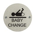 Image of Baby Change Toilet Door Safety Sign - Pack of 10