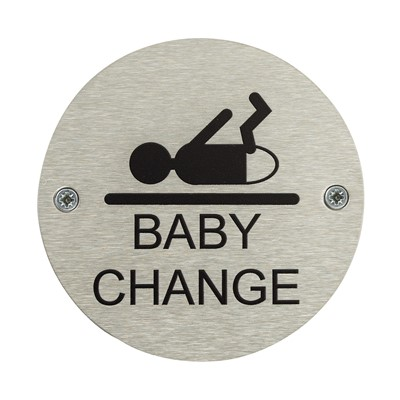 Baby Change Toilet Door Safety Sign - Pack of 10