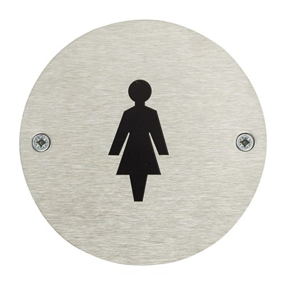Female Toilet Door Safety Sign - Pack of 10