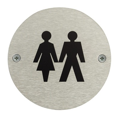 Unisex Toilet Door Safety Sign - Pack of 10