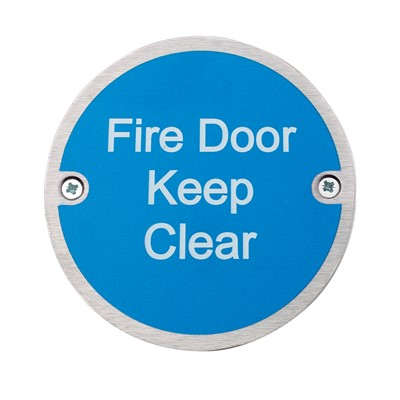 Fire Door Keep Clear - Pack of 10