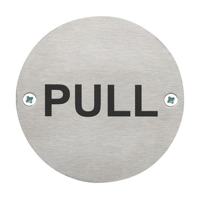 Pull Safety Sign - Pack of 10