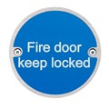 Image of Fire Door Keep Locked Fire Sign - Pack of 10