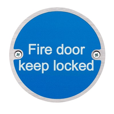 Fire Door Keep Locked Fire Sign - Pack of 10